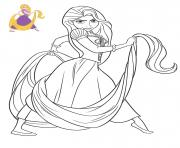 Princesse Disney Raiponce dessin à colorier