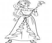 Coloriage Princesse Disney Elena