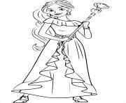 Princesse Disney Elena dessin à colorier