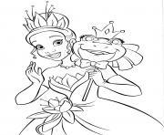 Princesse Disney Tiana dessin à colorier