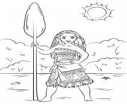 Princesse Disney vaiana moana dessin à colorier