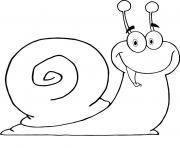 escargot joyeux et heurex dessin à colorier