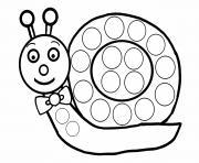 escargot a gommette enfant dessin à colorier