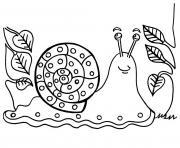 escargot dans la foret dessin à colorier