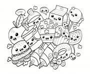dessin aliments kawaii dessin à colorier