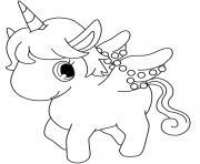dessin licorne cute kawaii dessin à colorier