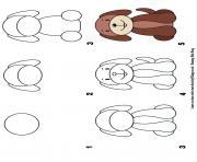 comment dessiner un chien etape par etape dessin à colorier