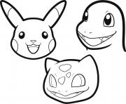 Coloriage dessin pokemon facile a colorier