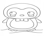dessin kawaii pinguin dessin à colorier