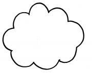 dessin nuage rond dessin à colorier
