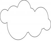 dessin nuage ciel dessin à colorier