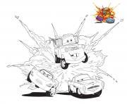 cars 3 competition cour se rapide voiture dessin à colorier
