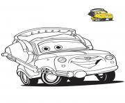 cars 3 luigi personnage dans film cars voiture jaune dessin à colorier
