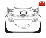 Coloriage film cars 3 flash mcqueen voiture rouge