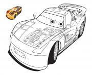 Coloriage Cars Le King.Coloriage Cars King Jecolorie Com
