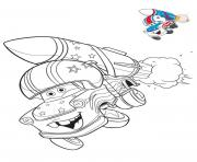 cars 3 voiture avec une fusee tres puissante dessin à colorier
