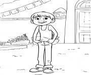 Coloriage dante heureux de retrouver miguel coco disney film dessin