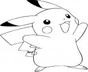 Coloriage pokemon pikachu dessin