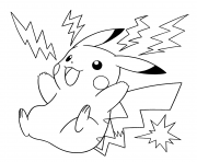 pokemon pikachu electrique dessin à colorier