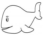 Coloriage baleine belle et souriante dessin