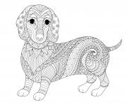 Coloriage adulte chien par freepik bimbimkha