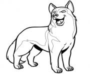 chien husky dessin à colorier