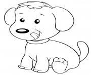 chien enfant facile maternelle dessin à colorier