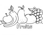 Coloriage fruits alimentation equilibree
