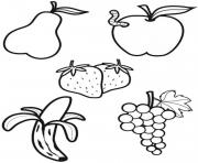 alimentation les fruits dessin à colorier