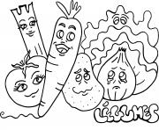 Coloriage fruits et legumes dessin