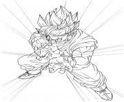 super goku super sayen dbz dessin à colorier