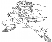 Coloriage yamcha toru furuya dragon ball z