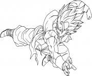 dragon ball z gogeta dessin à colorier