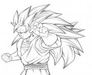 vegito ss3 by karoine dragonballz dessin à colorier