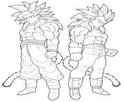 dbz goku et vegeta by drozdoo dessin à colorier
