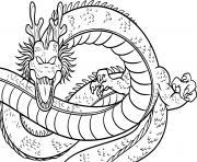 dragon de dragonballz dessin à colorier