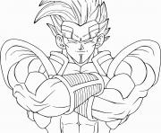 Coloriage unique dragon ball z vegeta