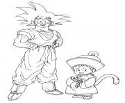 Coloriage dragon ball z goku et goten