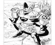inspire par cell dans dragon ball Z dessin à colorier