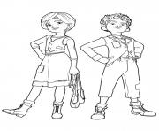 felicie et victor de ballerina dessin à colorier