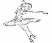 felicie milliner de ballerina danseuse opera dessin à colorier