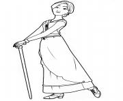 odette dans le film ballerina dessin à colorier