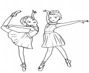 camille le haut et felicie milliner de ballerina dessin à colorier
