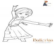 ballerina felicie dessin à colorier