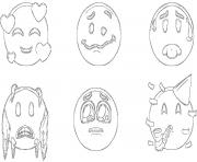 Coloriage ios 12 emoji original