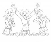 Coloriage Cute Sam totally spies dessin