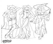 Coloriage totally spies halloween