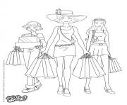 Coloriage totally spies shopping