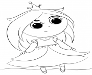 Coloriage cute little princess kawaii