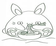 kawaii bunny dessin à colorier